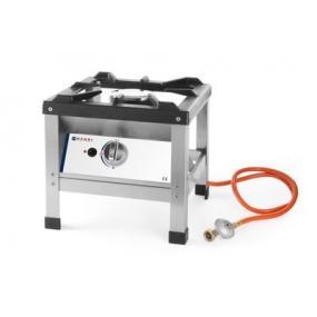 Aragaz portabil pentru exterior, inox, alimentare gaz, 6.4 kW, aprindere electronica, Kitchen Line, 425x425x(H)400mm