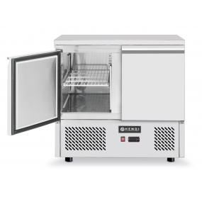 Masa rece cu 2 usi, profesionala,Kitchen Line, racire ventilata, consum mediu 4.5 kW, capacitate camera frig 300 lt