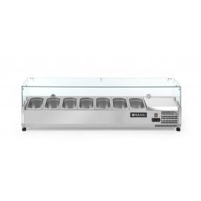 Vitrina frigorifica tip display, capacitate 5 x GN 1/4, corp inox, interval temperatura +2/+8 gr C,1200x335x(H)430