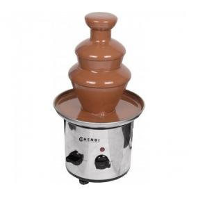 Fantana de ciocolata, pentru max. 700 gr ciocolata, functie mentinere la cald, 275W, inox, ø210x(H)390 mm