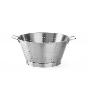 Colander , otel inoxidabil, cu baza si 2 manere - design solid 360x(H)200 mm