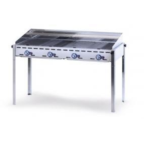 Grill barbecue - Green Fire - 4 arzatoare - alimentare gaz