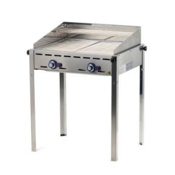 Grill barbecue - Green Fire - 2 arzatoare - alimentare gaz - 2 gratare din otel inoxidabil