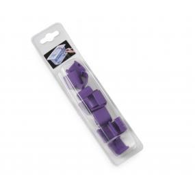 Cleme pentru capace containere depozitare HACCP - set 12 buc - violet