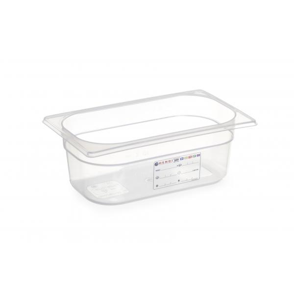 Cutie polipropilena depozitare Gastronorm 1/9, 100 mm, 1 lt