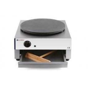 Aparat pentru clatite profesional, plita diam. 40 cm, termostat reglabil 50-300 gr C, 3000 W, corp inox, 450x485x220 mm