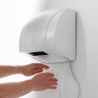 Uscator de maini, 1500W, activare prin senzor de miscare, corp alb, 240x210x(H)265