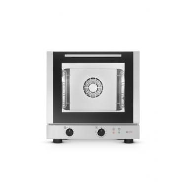 Cuptor convectie profesional, , cu ventilator, corp si camera inox, 4 tavi incluse, 429x345 mm