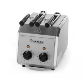 Prajitor de paine profesional, inox, timer reglabil 8 min cu alarma sonora, 1200W, 300x200x(H)223 mm