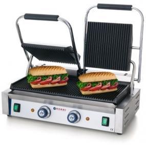 Contact grill - versiune dubla - partea superioara si cea inferioara striate, electric