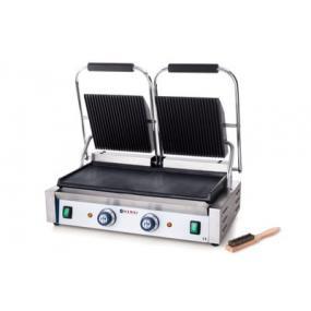 Contact grill - versiune dubla - partea superioara striata si cea inferioara neteda, electric