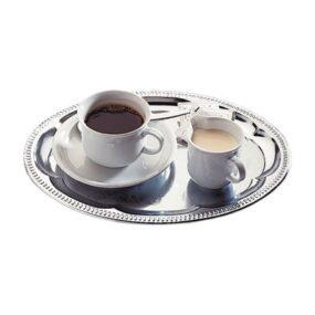 Tava decorata pentru servire cafea 310x230 mm