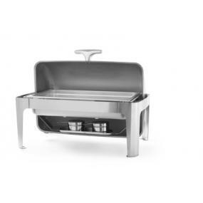 Chafing dish Rolltop Gastronorm 1/1, otel inoxidabil - 660x490x(H)460 mm - 9 lt