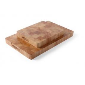 Tocator din lemn de cauciuc de inalta calitate, 530x325x(H)45 mm / GN 1/1