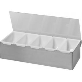 Cutie depozitare ingrediente, otel inoxidabil, 375x140x(H)90 mm
