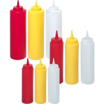 Set de 3 sticle dispenser , polietilena, galben 55x(H)205 mm 0.35 lt