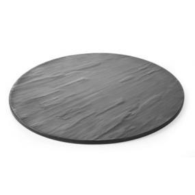 Platou , melamina cu aspect ardezie 430x(H)7 mm