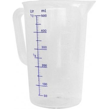 Cana gradata din polipropilena 90x(H)140 mm 0,50 Lit