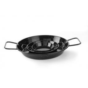 Tigaie emailata pentru paella, 2 manere, 200 mm