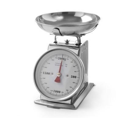 Cantar bucatarie, max 2 kg, inox, include bol, 10x140x(H)255 mm