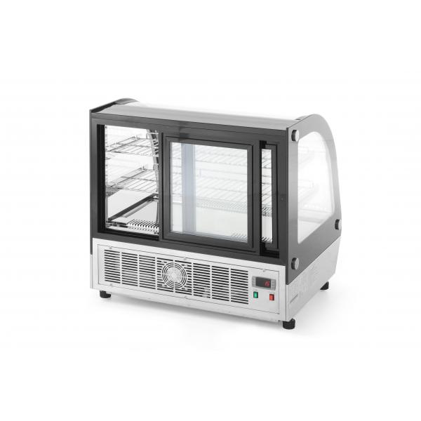 Vitrina frigorifica pentru prajituri, 110 lt, interval temperatura +2 / +8 gr C, consum mediu zilnic 3.8 kW, 70x55.7x(H)67 cm