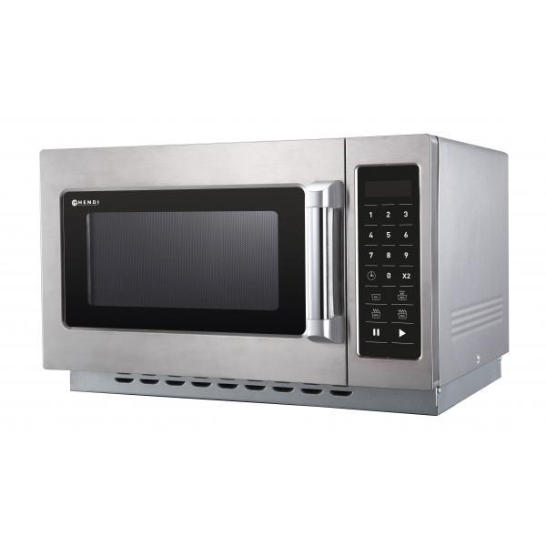 Cuptor microunde profesional, volum 34 lt, programabil, putere iesire 1000W, corp si camera inox 370x385x(H)230 mm,