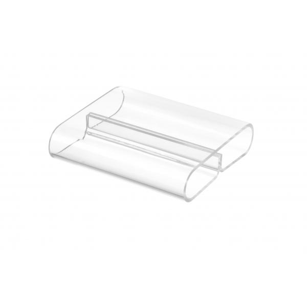 Suport pentru meniu -plexiglas transparent - set 6 bucati, 80x72x(H)20 mm