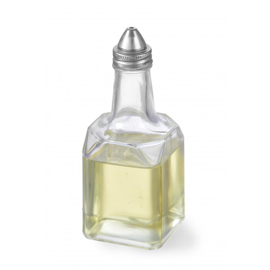 Dispenser pentru ulei/otet, patrat, din sticla, 55x55x(H)147 mm