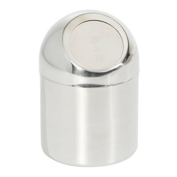 Cos pentru gunoi realizat din otel inoxidabil cu capac 120x(H)180 mm
