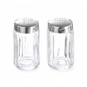 Solnita pentru sare si piper, recipient din sticla, 40x(H)70 mm - 6 bucati