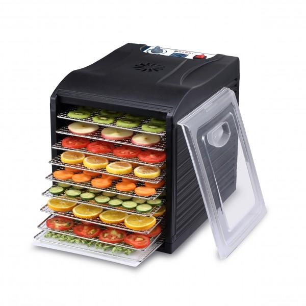 Deshidrator alimente cu 9 tavi, 700 W, Kitchen Line, temperatura reglabila 35-70 gr C, 450x345x(H)415 mm