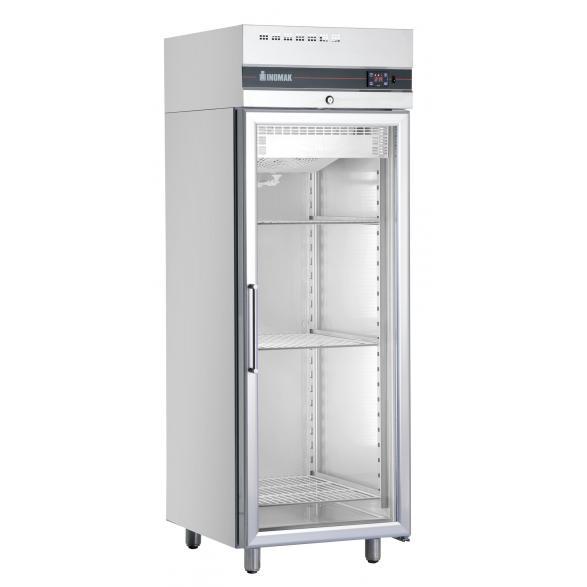 Congelator inox vertical cu 1 usa sticla