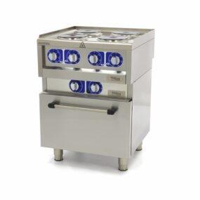 Masina de gatit electrica cu 4 arzatoare si cuptor linia 600