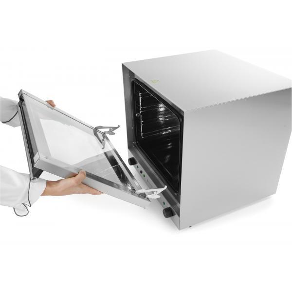 Cuptor convectie cu umidificare 4 tavi 438x315 mm termostat reglabil 50-300 gr C, timer 0-120 min, 2670W, 595×595×(H)570 mm