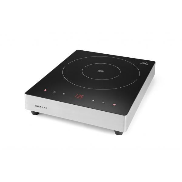 Plita cu inductie profesionala, 3500W, control digital, 35-240 gr C,corp inox, Hendi Display Line, 337x417x(H)85 mm