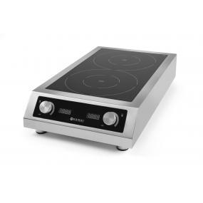 Plita inductie profesionala dubla, Hendi, model 7000 D XL, putere 2x3500 W, 380V, 405x698x(X)145 mm