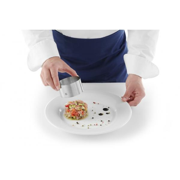 Inel Hendi, otel inoxidabil, pentru conturare prajituri si mancaruri 100x(H)45 mm