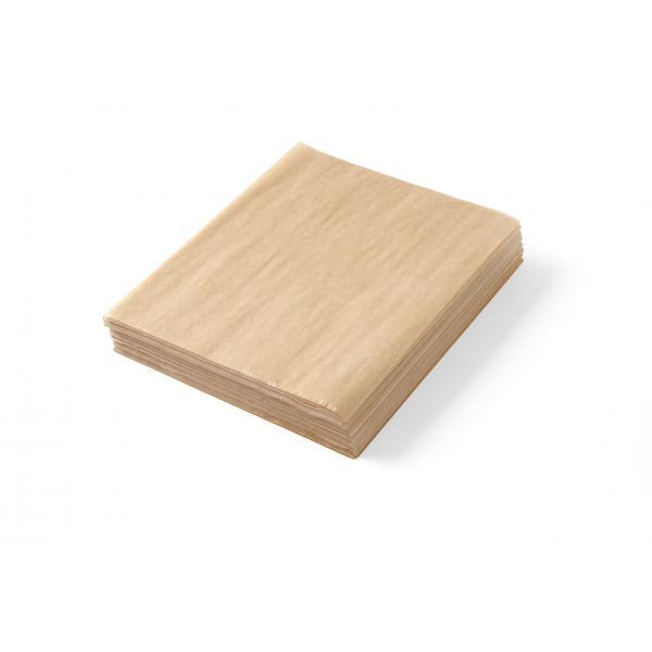 Set 500 de foi, hartie impermeabila grasime pentru servire cartofi prajiti sau aperitive, model simplu 20x25 cm, Hendi