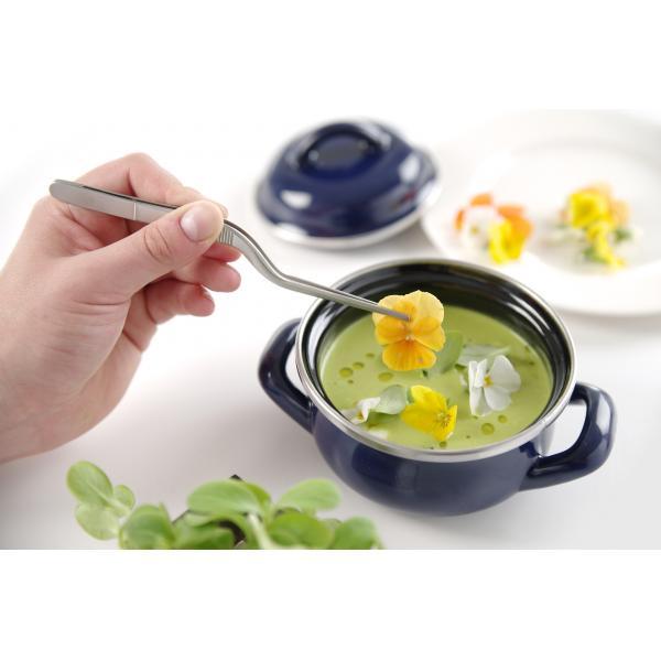 Penseta alimentara curbata pentru plating / oase peste / sushi, (L)160 mm, inox, Hendi