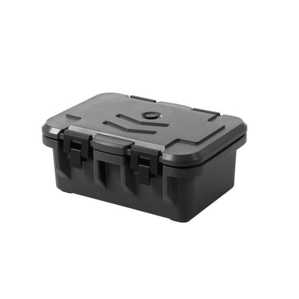 Container izolat catering GN 1/1, incarcare frontala, marime interioara GN 1/1 15 cm, dimensiuni exterioare 630x440x(H)260 mm