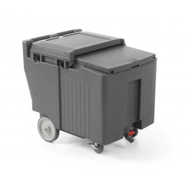 Container termoizolant pentru gheata, 110 lt, echipat cu 4 roti, 585x800x(H)745 mm, Amerbox