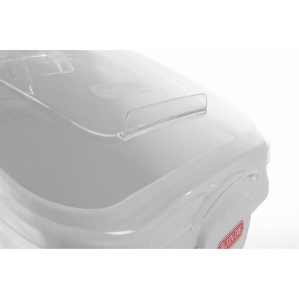 Container pentru alimente uscate, 98 lt, echipat cu capac si 4 roti, Amerbox, 394x749x(H)711 mm