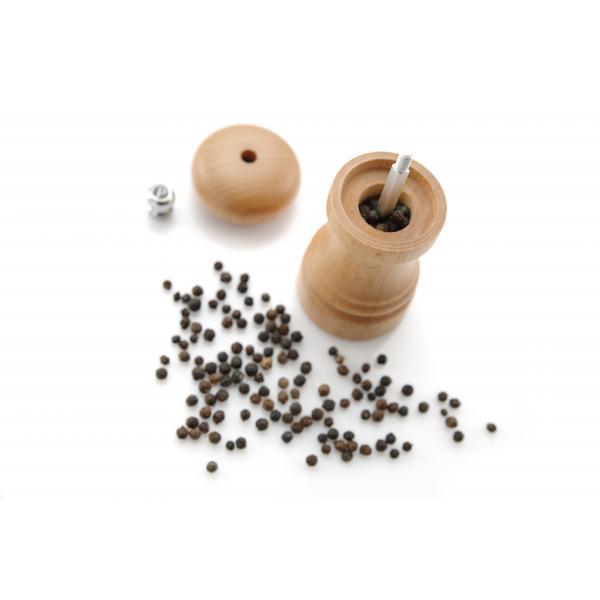 Rasnita piper, lemn culoare deschisa - (H) 310 mm, mecanism macinare ceramic, de durata, Hendi