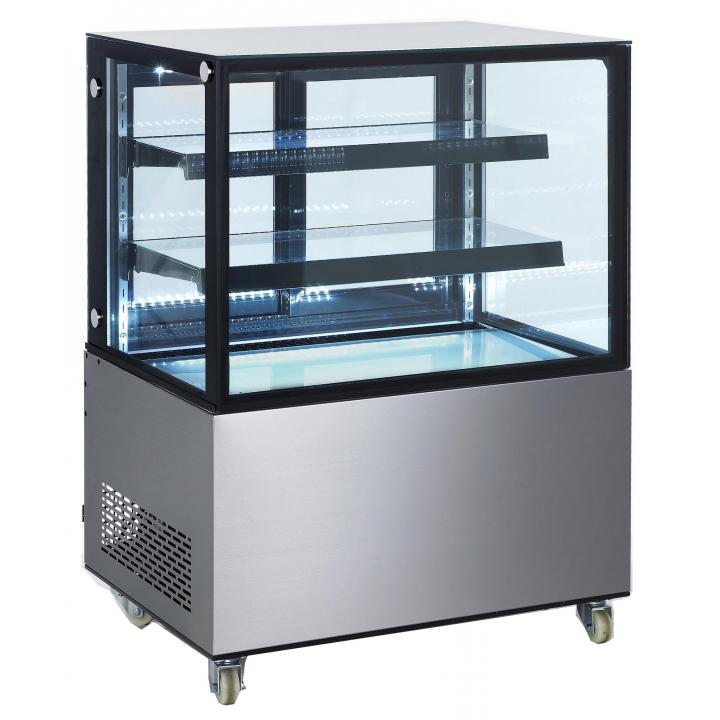 Vitrina frigorifica de prezentare interval temp. 2/6°C, corp inox, 300 litri, 480 W ARKTIC by 915x675x(H)1210 mm
