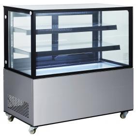 Vitrina frigorifica de prezentare interval temp. 2/6°C, corp inox, 410 litri, 490 W ARKTIC by 1215x675x(H)1210 mm