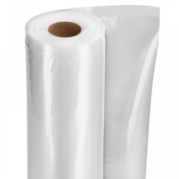 Set 2 role pungi vacuum gofrate 20 cm x 6 metri, in cutie, SousVideTools, 105 microni grosime, filtru UV