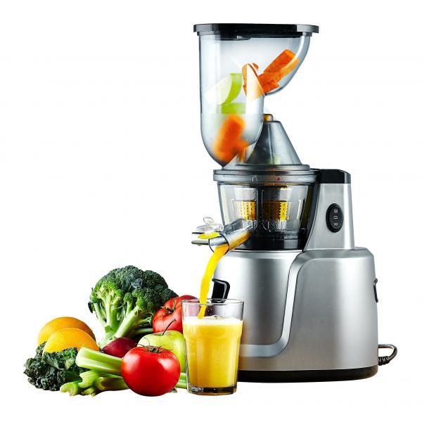 Storcator lent fructe si legume (slow juicer) + adaptor sita preparare creme inghetata, supe creme, mancare bebelusi, smoothies