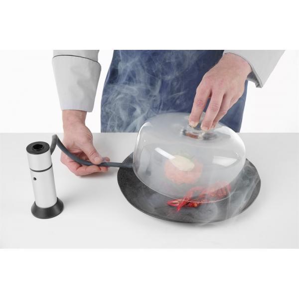 Infuzor de fum , camera detasabila, filtru integrat, furtun flexibil de cauciuc (30 cm), culoare gri
