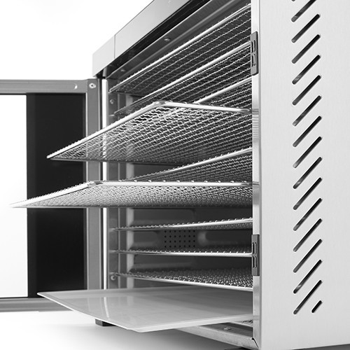 Deshidrator alimente , 550 W, 6 tavi, Temperatura reglabila 35-75°C, Gri