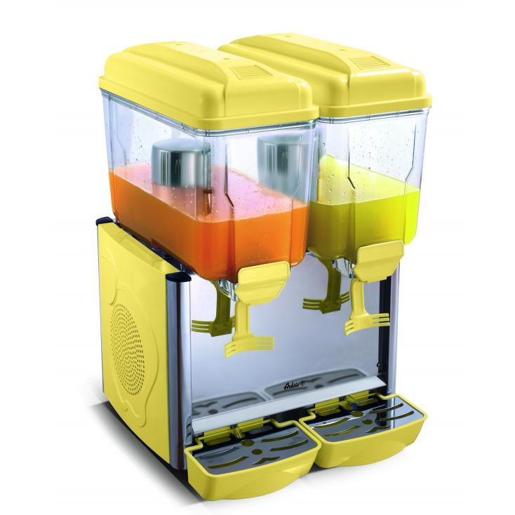 Dispenser pentru suc 2x12 l cu regulator de temperatura, 230 V, 43x43x(H)64 cm
